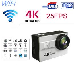 Vente en gros 2016 Nouveau Ultra HD 4K 25fps Sport Action Caméra 2.0 pouces lcd écran 173 degrés Objectif étanche Étanche 30 m Wifi Action Caméra