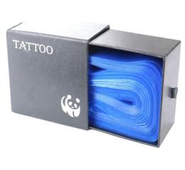 100 Adet Plastik Mavi Dövme Klip Kordon Kollu Çanta Tedarik Kapakları Tedarik Yeni Sıcak Profesyonel Dövme Aksesuar Accessoire de Dövme