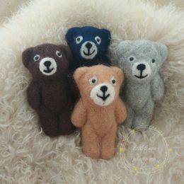 $enCountryForm.capitalKeyWord Canada - Newborn baby handmade bear photo prop Woollen felt bear Baby bear animal doll photography props