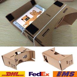 Großhandel 3D-Gläser DIY Google Pappe Mobiltelefon Virtuelle Realität 3D-Gläser Inoffizieller Karton Google VR Toolkit 3D-Gläser 100pcs WX-G10