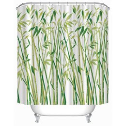 Customs 36 48 60 66 72 80 (W) X 72 (H) Inch Shower Curtain Little Bamboo  Waterproof Polyester Fabric Shower Curtain