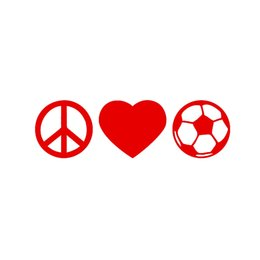 China Wholesale 20pcs lot Home Decorations Automobile and Motorcycle Vinyl Decal Car Glass window Stickers Jdm Peace Love Soccer Silhouette cheap silhouette glasses suppliers