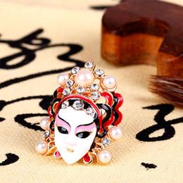 pearl cluster rings white gold 2019 - 2017 new fashion Beijing Opera Peking Opera blues girl beauty ring of tears cheap pearl cluster rings white gold