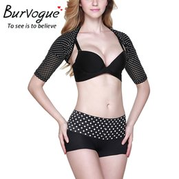 Barato Formadores De Braço Emagrecedor-Venda por atacado - Burvogue Slimming Arm Shaper Lift Shapers Massage Arm Control Shoulder Shapewear shaper corpo para mulheres Sexy Shapers Top