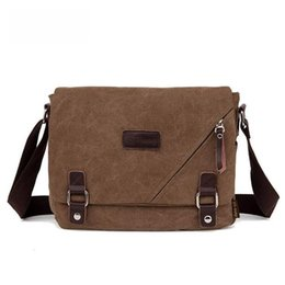 Unisex Canvas Laptop Messenger Bag Canada - Fashion Canvas Messenger Shoulder Bag Laptop Computer Bag Satchel Bookbag School Bags Working For Men And Women