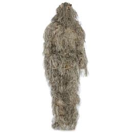 Оптовая торговля-охота Лесной 3D бионический лист маскировка равномерное CS камуфляж костюмы набор снайпер Ghillie костюм джунгли поезд охота ткань