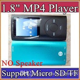 1.8 inch mp3 player speaker Canada - 1.8 inch Screen 4th mp3 mp4 Player with card slot without speaker Voice Recorder 9 colors USB Cables+Earphones+Retail Boxes A-MF