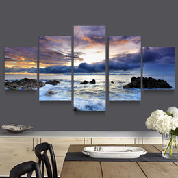 $enCountryForm.capitalKeyWord NZ - 5 Panel Wall Art Picture Home Decoration Living Room Canvas Print Modern Painting--Large Canvas Art Cheap Forest Painting Canvas