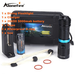 Scuba dive flaShlight online shopping - Alonefire DV30 Lumens Cree XM L2 LED Diving Flashlight Torch M Underwater Waterproof Scuba Lantern Battery Charger