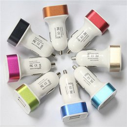 universal 12v charger for car 2019 - Universal aluminium allo Dual USB Car Charger Mix Colors for Cell Phone  Ipad   Iphone 5 5S 6 6S 7 7S discount universal