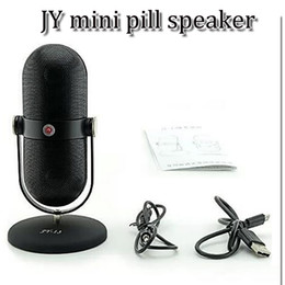 Hi Fi Speaker Boxes Canada - JY 13 JY-13 JY13 Portable mini bluetooth Wireless Speakers microphone Hi Fi Music Player of Light Micro SD TF Mic USB Earphone Port