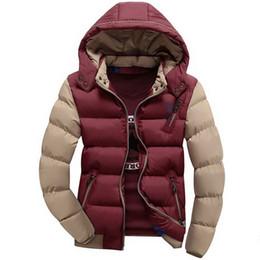 $enCountryForm.capitalKeyWord NZ - New Arrival Men Jacket Warm cotton coat mens casual hooded jackets Handsome outdoor thicking Parka Plus size XXXL Coats