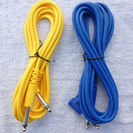 Wholesale Musical instruments M Yellow Blue Electric Guitar Amplifier Audio Cable Guitar Effects Pedal Cable guitar parts High Quality
