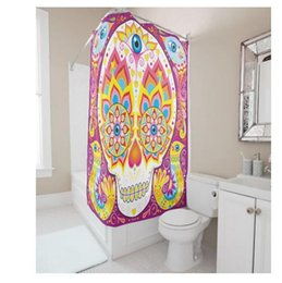 Shower Curtain Diy Canada - Customs 36 48 60 66 72 (W) x 72 Inch (H) Skulls Birds Design Waterproof Polyester Fabric Shower Curtain Bathroom DIY Shower Curtain