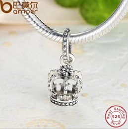 Pandora Crown Bracelet .925 Canada - Fashion 925 Sterling Silver Imperial crown European Charms Bead Fit Pandora Snake Chain Bracelets Bangles DIY Jewelry Loose Beads