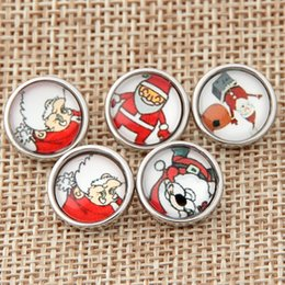 $enCountryForm.capitalKeyWord NZ - Mix Christmas Gift 12MM high quality Metal Glass Snap Button Charm Button Snaps Jewelry NOOSA chunk Ginger Snaps for Noosa Bracelet T0233