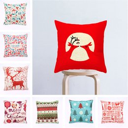 Deer pillow cases online shopping - Cotton Pillow Case Square Christmas Tree Deer Pattern Home Furnishing Decorate Pillowslip Many Styles Hot Sale hl J R