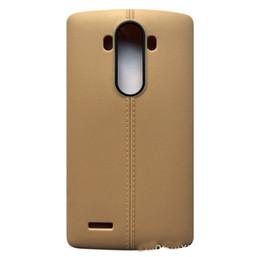 Cheap Lg Cases Canada - fashion Ultrathin line TPU Soft PU leather matte case cover skin for LG G4 G4c cheap case