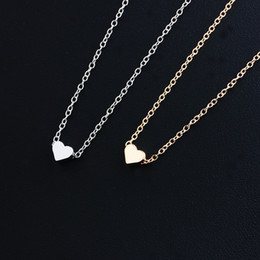 Girls trendy shorts online shopping - Pendant Necklace Women Trendy Tiny Heart Short Pendant Necklace Women Gold Plated Chain Lover Lady Girl Gifts Bijoux Fashion Chain Necklaces
