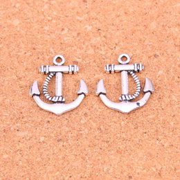 $enCountryForm.capitalKeyWord Australia - 87pcs Antique Silver Plated anchor sea Charms Pendants for European Bracelet Jewelry Making DIY Handmade 22*20mm