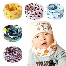 $enCountryForm.capitalKeyWord NZ - Wholesale- New Hot Autumn and Winter Children's Cartoon Cotton Scarves Collars Anchor Baby Bibs free shipping