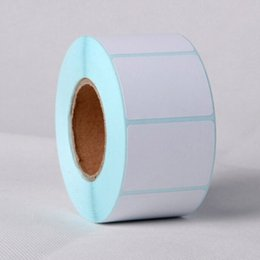 Printing Label Paper Sticker Canada - 2 Rolls New 40x30mm Printing Label Bar Code Number Thermal Adhesive Paper Stickers High Quality For Business Supermarket