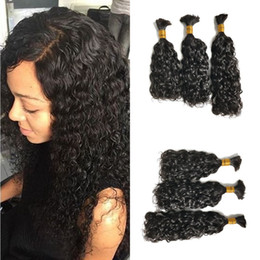 Braid hair 26 inches online shopping - Human Hair Bulk Indian Water Wave Bundles Hair Extensions Natural Color g Bundle for Braiding FDSHINE