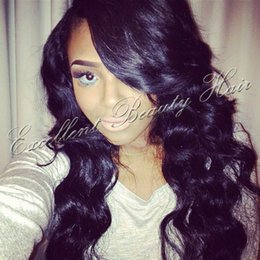 Lace Part Wigs Bangs NZ - Human brazilian hair glueless full lace wig &lace front human hair wigs with bangs right side part body wave lace wigs free shipping