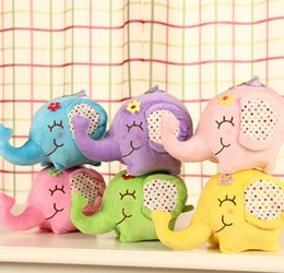 Car window suCker doll online shopping - Super Kawaii Big Floral Elephant CM Doll Plush Stuffed Toy Doll Sucker Car Room Window Pendant Bouquet Toys