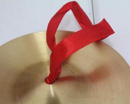 venda por atacado 2016 Pequeno Cobre Mão Pratos Gongo Banda Percussão Ritmo Instrumento Musical Brinquedo para Crianças Dos Miúdos