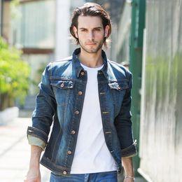 Discount Dark Jean Jacket | 2017 Dark Blue Jean Jacket Men on Sale ...