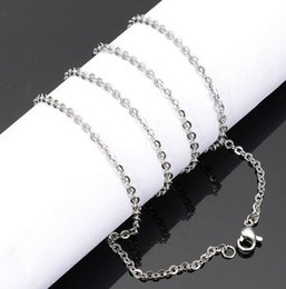 $enCountryForm.capitalKeyWord Canada - 2mm 3mm 10pcs lot Strong Oval Link Chain Stainless steel Necklace Finding 18''-32'' Wholesale Jewelry Chain