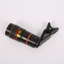 Mini Telescope Mobile Canada - Manufacturers wholesale explosion section 8x18 orange ring high-definition compact single-tube mobile telescope mini portable concert