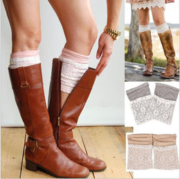 Barato Botas De Crochet Casual-New Crochet Boot Cuff Moda Lace Perna Warmers Mulheres Crochet Boot Cuffs Winter perna Warmers Handmade Knitted Boot Socks Boot Toppers D687 00