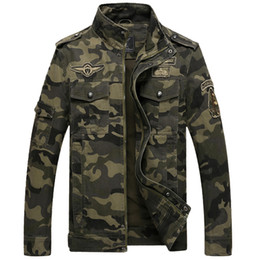 AnimAl print jAcket for men online shopping - Camouflage Mens Jackets Cotton For Autumn Winter Coat Stand Collar Casual Printing Coats for Male Clothes