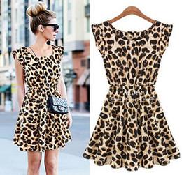 Vente Limitée! Les robes d'été de nouvelle ladie o-cou léopard imprimer mini robe d'été décontractée oversize livraison gratuite sexy personnalité vente chaude mode en Solde