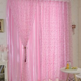 Simple Circle Pattern Half Shading Curtain For Door Window Room Decoration  Window Screening Pastoral Voile Curtains Room Decor