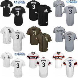 bc46900c ... Mens Chicago White Sox 3 Harold Baines Alternate Road Cool Base  Flexbase Authentic Collection baseball Jersey ...