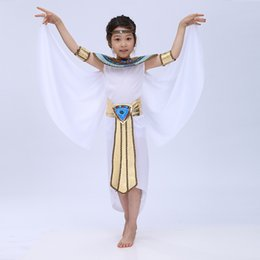 cosplay cleopatra 2019 - Free Shipping 2016 New Children Halloween Cosplay Masquerade Queen Cleopatra Costume For Girls Princess Costume cheap co