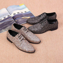 $enCountryForm.capitalKeyWord Canada - Personalized dress shoes leisure fashion men round toe Oxford shiny lace wedding party the rising trend of leather shoes