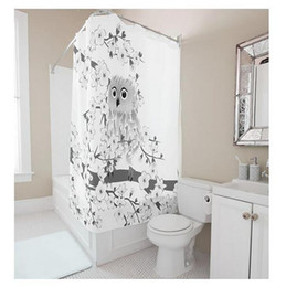 Customs 36 48 60 66 72 80 (W) X 72 (H) Inch Shower Curtain Owl Flower  Waterproof Polyester Fabric Diy Shower Curtain