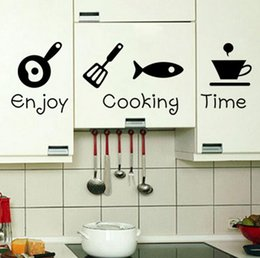 2016 Fashion Art Home Decoration Sickers Enjoy Cooking Time Wall Sticker Kitchen Dining Room Background