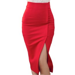 Discount Long Black Pencil Skirt Split | 2017 Long Black Pencil ...