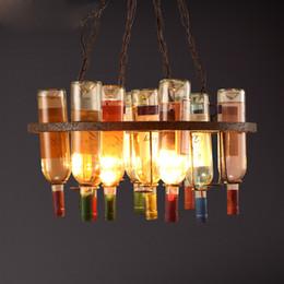 modern house art 2018 - LOFT Creative Designer Coffee House Wine Bottle Pendant Lamp Dinning Room Bar Decorate Special Living Room Art Light che