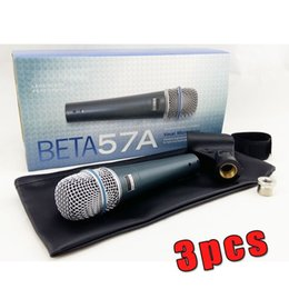 microphones beta Canada - 3PCS Top Quality and Heavy Body BETA57 Professional BETA57A Karaoke Handheld Dynamic Wired Microphone Beta 57A 57 A Mic