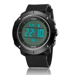 ohsen sports watches UK - NEW Famous OHSEN Men Digital Sports Causal Male Mens Watch Silicone Rubber Strap Alarm Waterproof Hombre Running Wrist Watches Relojoes Gift