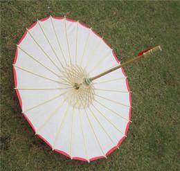 Chinese bamboo umbrellas online shopping - Bridal wedding paper Umbrella Craft Umbrella Thickened edge Handmade Fashion Chinese Straight Bamboo frame wedding umbrellas dance umbrella
