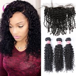 18 inch hair extensions length 2019 - xbl curly bundles and closure human hair extension remy human hair bundles 3 bundles within one closure discount 18 inch