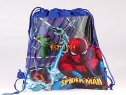 $enCountryForm.capitalKeyWord Canada - 600pcs lot fedex DHL Free shipping spider man Bag string backpack Shoe bag For kids school bag