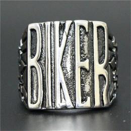 Men Size 15 Rings Australia - 5pcs lot size 8-15 Popular Cool Man BIKER Ring 316L Stainless Steel Fashion Jewelry Men Boy Biker Style Ring